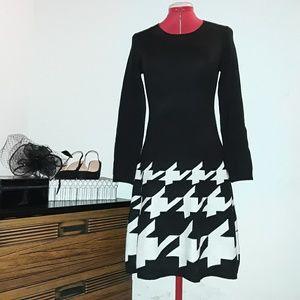JAX Long Sleeve Sweater Midi Dress